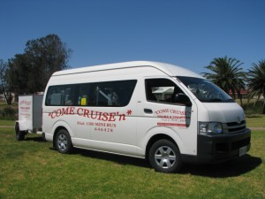 Come Cruisen has a fleet of 7 fully equipped 13-Passenger Mini buses!