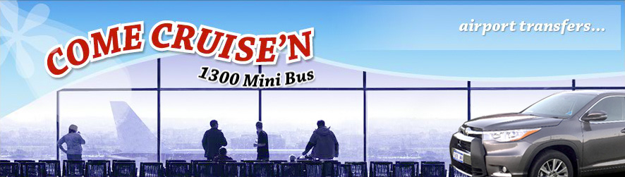 Come Cruisen Provide Airport Transfer services to and from Adelaide Airport